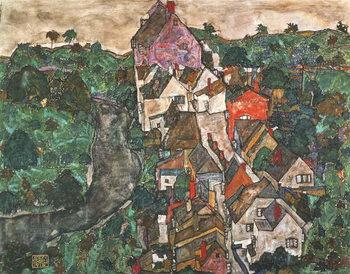 Reprodução do quadro Landscape at Krumau, 1910-16