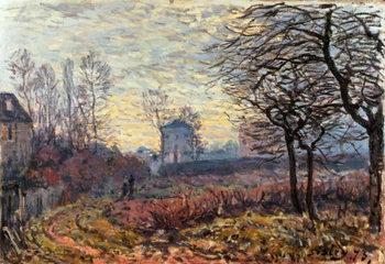 Reprodução do quadro Landscape near Louveciennes, 1873
