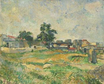 Reprodução do quadro Landscape near Paris, c. 1876