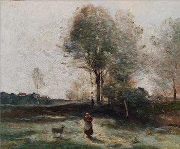 Reprodução do quadro Landscape or, Morning in the Field