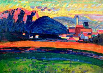 Reprodução do quadro Landscape with Hills, c.1908