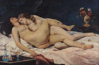 Reprodução do quadro Le Sommeil, 1866