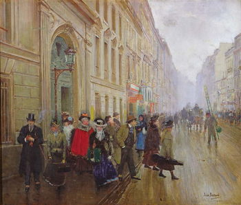 Reprodução do quadro Leaving the Conservatoire, 1899