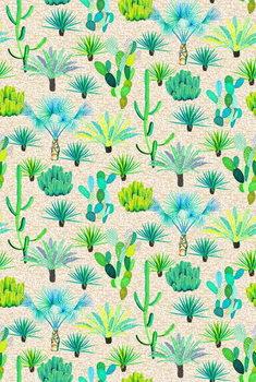 Reprodução do quadro Les Jardins Majorelle - Cacti