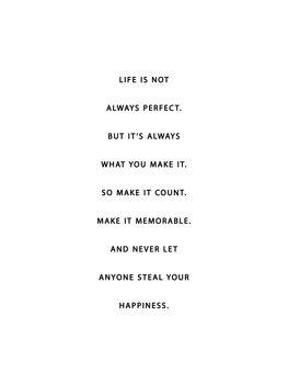 Ilustração life is not always perfect