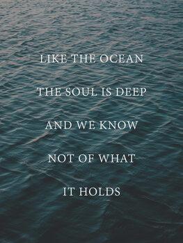 Ilustração Like the ocean the soul is deep