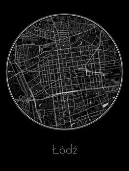 Mapa de Łódź