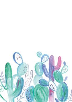 Ilustração Loose abstract cacti