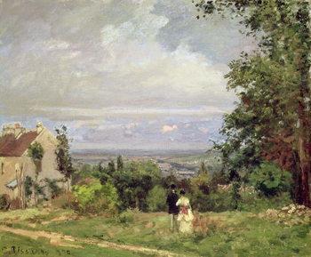 Reprodução do quadro Louveciennes, 1870