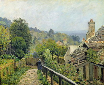Reprodução do quadro Louveciennes or, The Heights at Marly, 1873