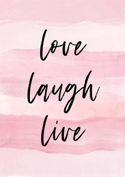 Ilustração Love Laught Quote Pink