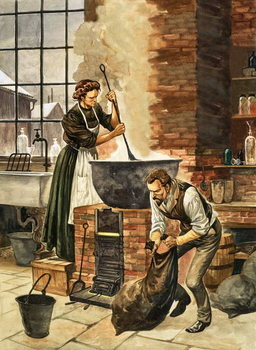 Reprodução do quadro Madame Curie