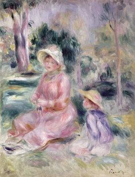 Reprodução do quadro Madame Renoir and her son Pierre, 1890