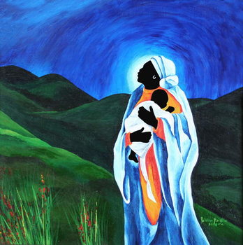 Reprodução do quadro Madonna and child - Hope for the world, 2008