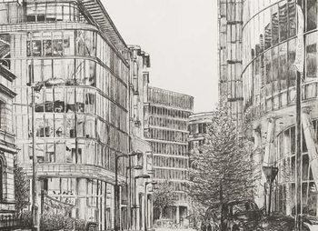 Reprodução do quadro Manchester, Deansgate, view from cafe,2010,