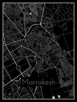 Mapa de Marrakesh