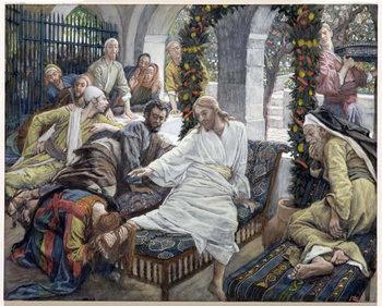 Reprodução do quadro Mary Magdalene's Box of Very Precious Ointment, illustration for 'The Life of Christ', c.1886-96