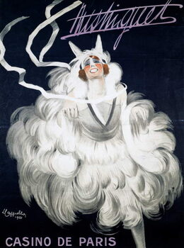 Reprodução do quadro Mistinguett (1872-1956) at Casino de Paris, 1920, poster illustrated by Leonetto Cappiello , France, 20th century
