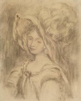 Reprodução do quadro Mme Dieterle in a Hat, c.1896