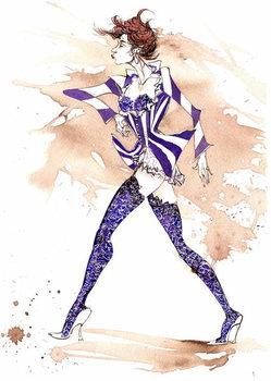 Reprodução do quadro Model in a stripy costume