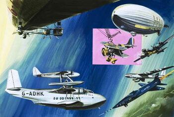 Reprodução do quadro Montage of aerial aircraft carriers