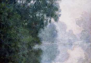 Reprodução do quadro Morning on the Seine, Effect of Mist; Matinee sur la Seine, Effet de Brume, 1897