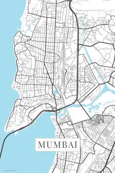 Mapa de Mumbai white