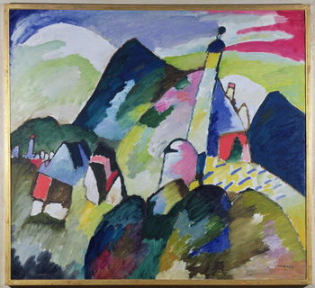 Reprodução do quadro Murnau with Church II, 1910