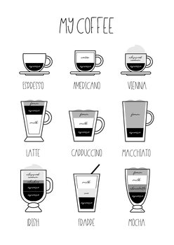 Ilustração My coffee