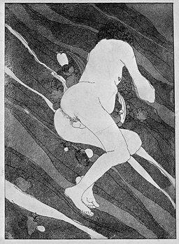 Reprodução do quadro Naked man