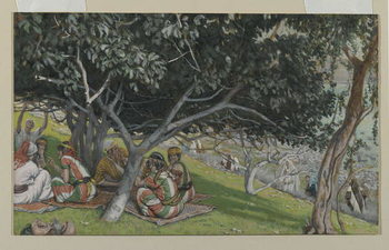 Reprodução do quadro Nathaniel Under the Fig Tree, illustration from 'The Life of Our Lord Jesus Christ'