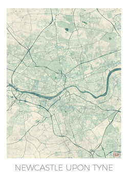 Mapa de Newcastle Upon Tyne