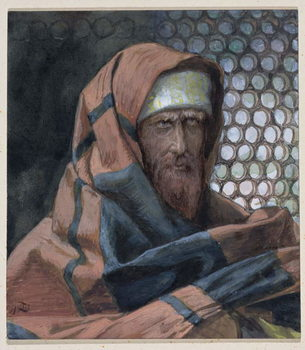 Reprodução do quadro Nicodemus, illustration for 'The Life of Christ', c.1886-94