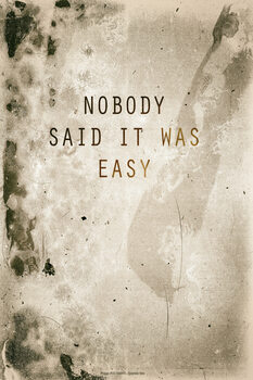 Ilustração Nobody said it was easy