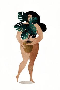 Ilustração Nude With Plant