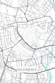Mapa de Olomouc white