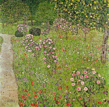 Reprodução do quadro Orchard with roses