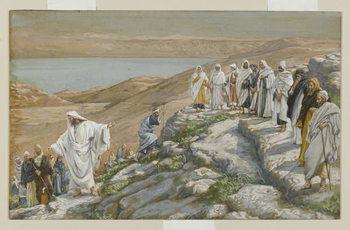 Reprodução do quadro Ordaining of the Twelve Apostles, illustration from 'The Life of Our Lord Jesus Christ'