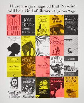 Reprodução do quadro Paradise is a library, 2015,