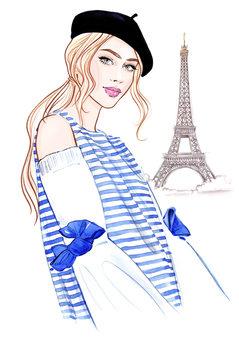 Ilustração Paris mon amour! - 1