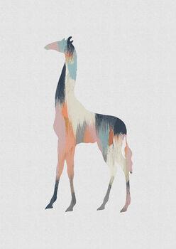 Ilustração Pastel Giraffe