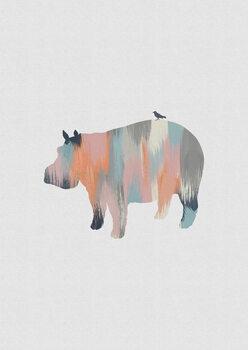 Ilustração Pastel Hippo