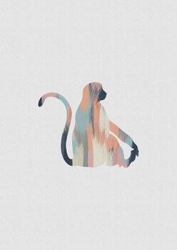 Ilustração Pastel Monkey