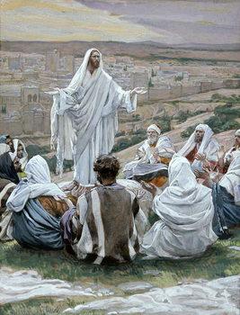 Reprodução do quadro Pater Noster - The Lord's Prayer, illustration for 'The Life of Christ', c.1886-94