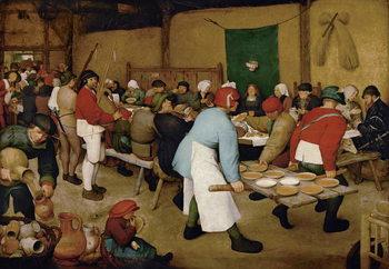 Reprodução do quadro Peasant Wedding, 1568