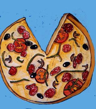 Reprodução do quadro Pizza