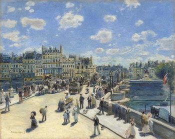 Reprodução do quadro Pont Neuf, Paris, 1872