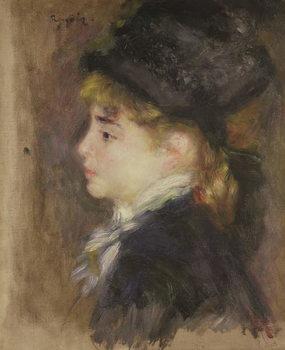 Reprodução do quadro Portrait of a woman, possibly Margot, c.1876-78