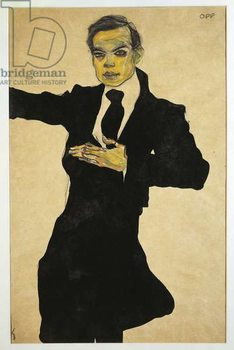 Reprodução do quadro Portrait of Max Oppenheimer , 1910 mixed media