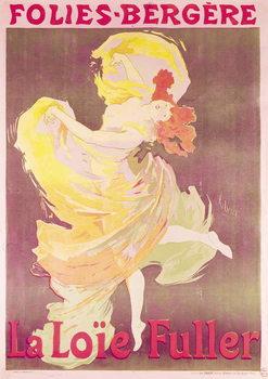 Reprodução do quadro Poster advertising Loie Fuller (1862-1928) at the Folies Bergere, 1897